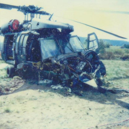 Destroyed Helicopter