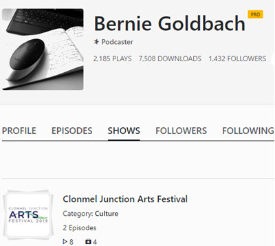 Spreaker Clonmel Junction Arts