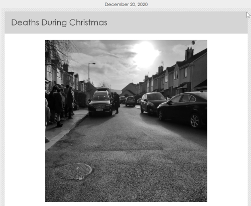 Deaths During Christmas