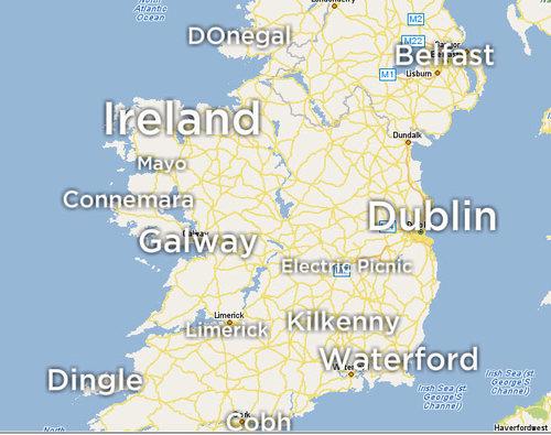 Maps Yahoo Map Of Ireland